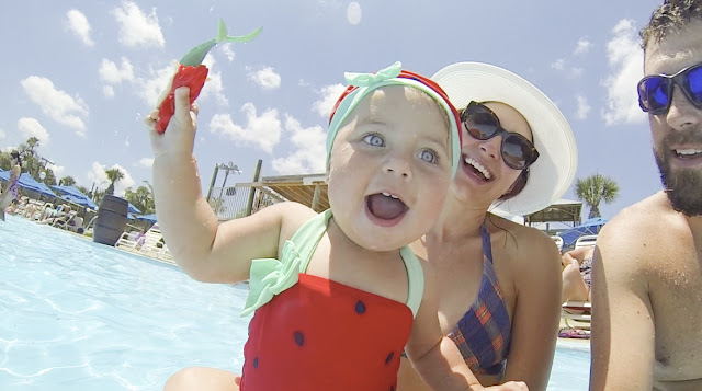 Amy West and family have fun at Adventure Landing's waterpark