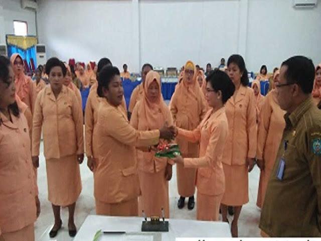 Dharma Wanita Persatuan (DWP) Raja Ampat Kukuhkan Badan Pengurus Baru