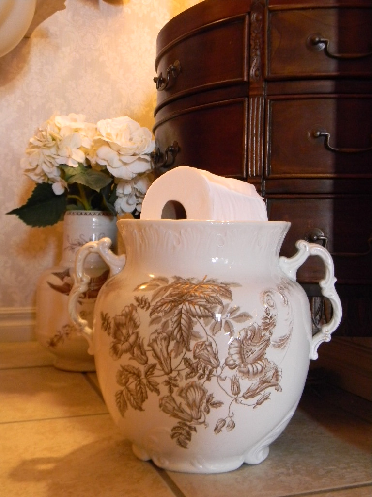 Decorating With Transferware Slop Pails