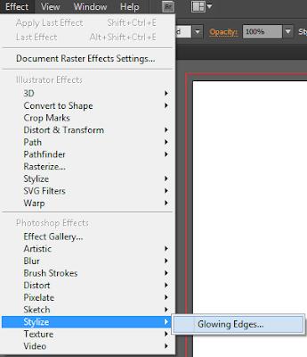 Nhóm lệnh Stylize trong menu Effect của Illustrator