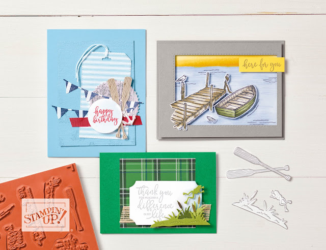 By The Dock Bundle stamp set and dies | item #153817 | $42.25 | Nicole Steele The Joyful Stamper