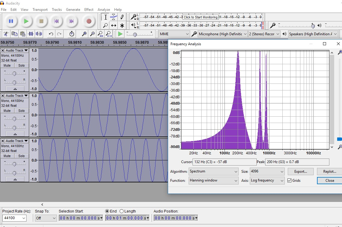 Jeff P's Projects: Arduino Signal Experiment #2 FFT Analysis using