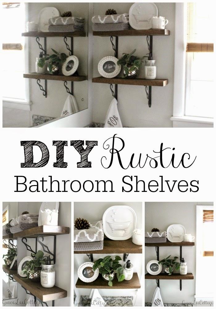 Grace Lee Cottage: DIY Rustic Bathroom Shelves