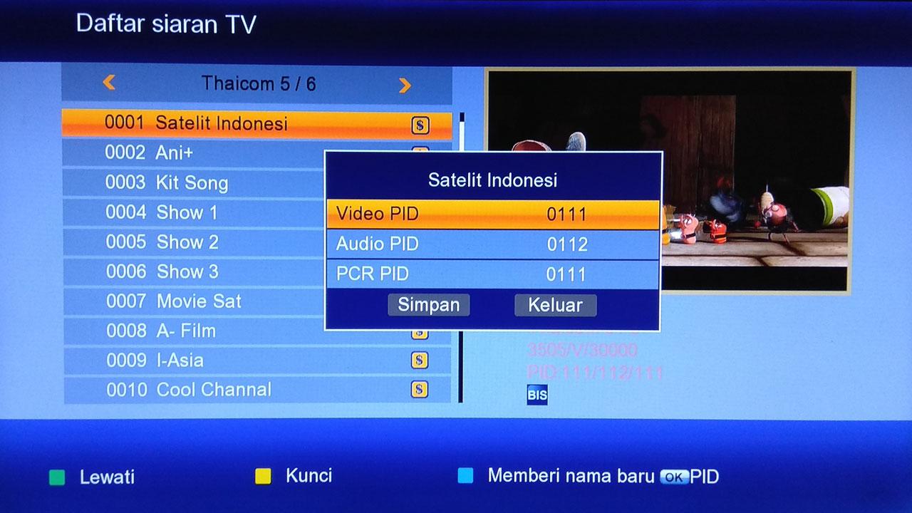 Cara Menonton Siaran IPM Thaicom 5 di Receiver K0S