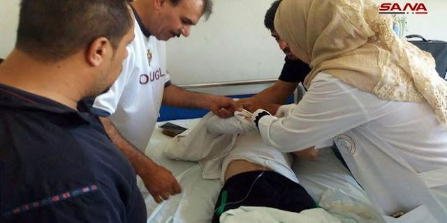 ارتقاء شهيد وإصابة 10 بجروح في قرية جبا بريف القنيطرة.باعتداء إرهابي بالقذائف