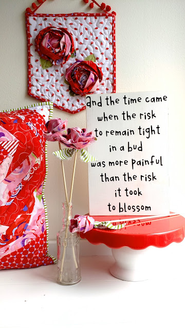 blooming flower Anais Nin quote