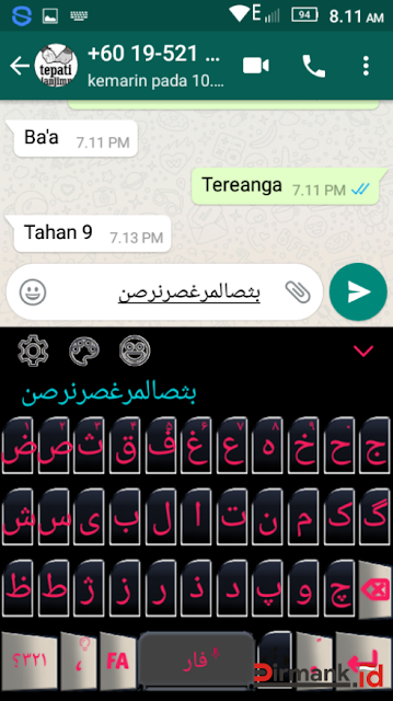 Cara Menampilkan Tulisan Arab di WhatsApp