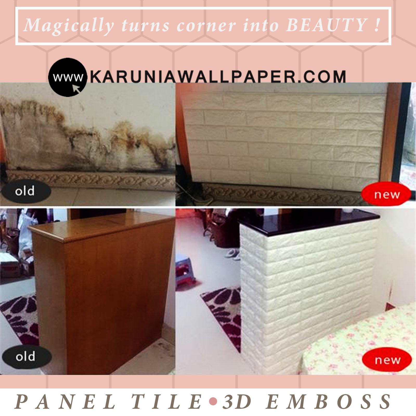 jual wall paper panel 3 dimensi emboss surabaya karuniawallpaper