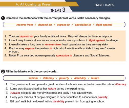 11. Sınıf MEB Yayınları İngilizce Çalışma Kitabı Silver Lining 23. Sayfa Cevapları Hard Times