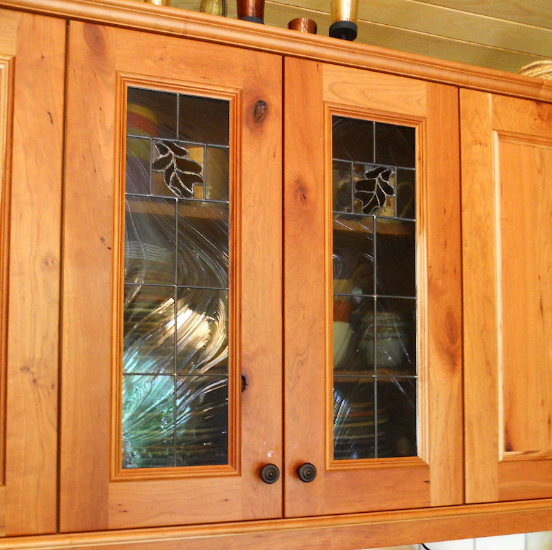 Northern Light: Oak Leaf Cabinet Doors