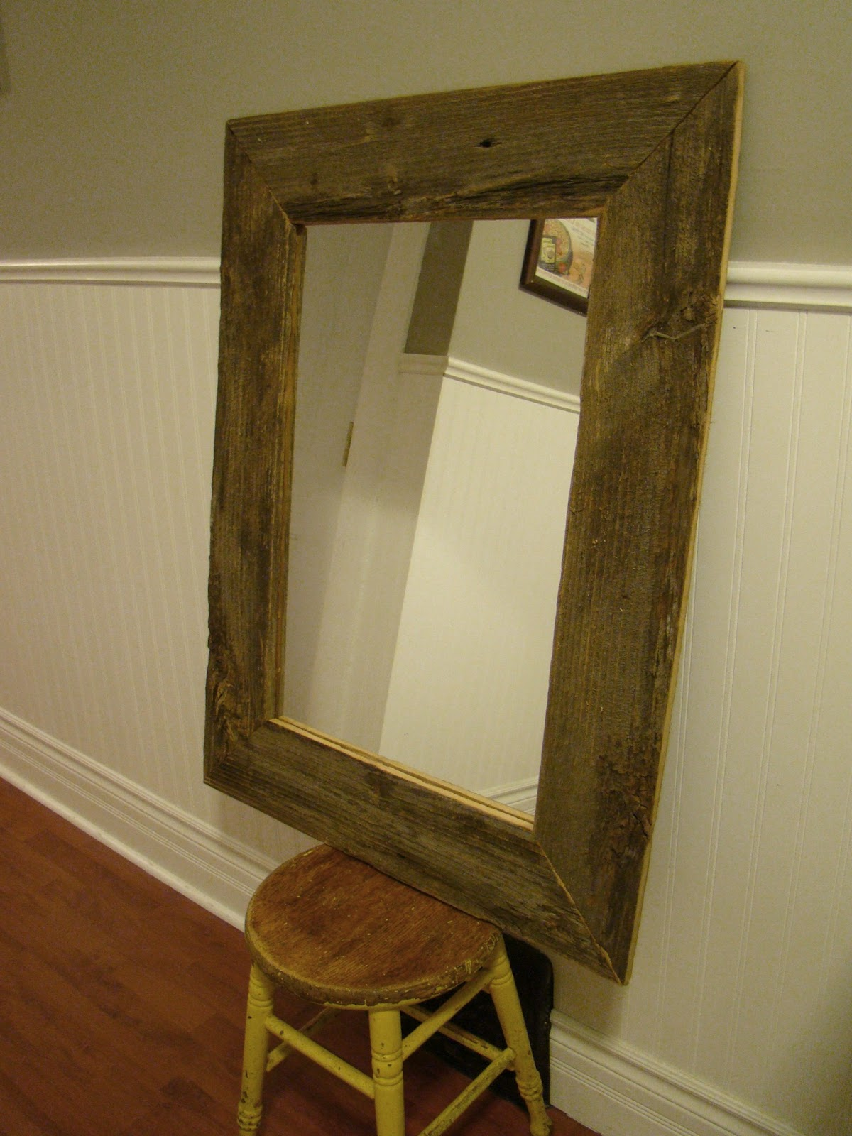 Mark Made This Mirror Out Of Barnboard We Found In An Old