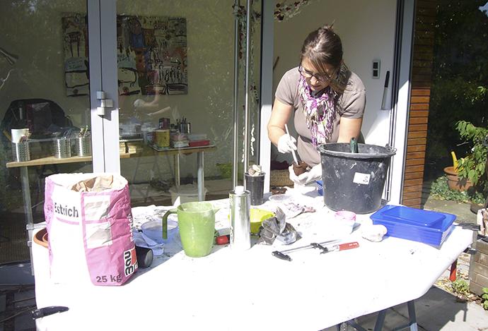 Oh, Beton! | erste Versuche im Garten