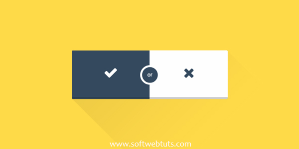 Simple Flat Option Button - Pure CSS
