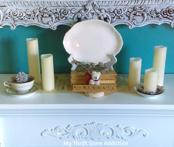 15 minute winter whimsy mantel