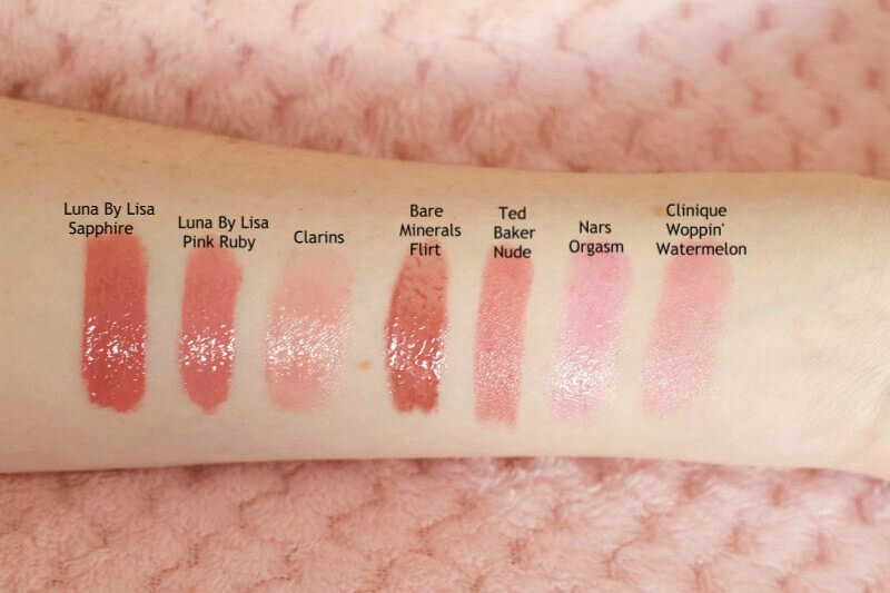 Tinted Lip Balms & Lip Gloss Swatches