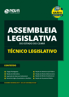 Apostila Concurso Assembleia Legislativa CE 2020 PDF e Impressa Técnico Legislativo PDF Grátis Cursos Online