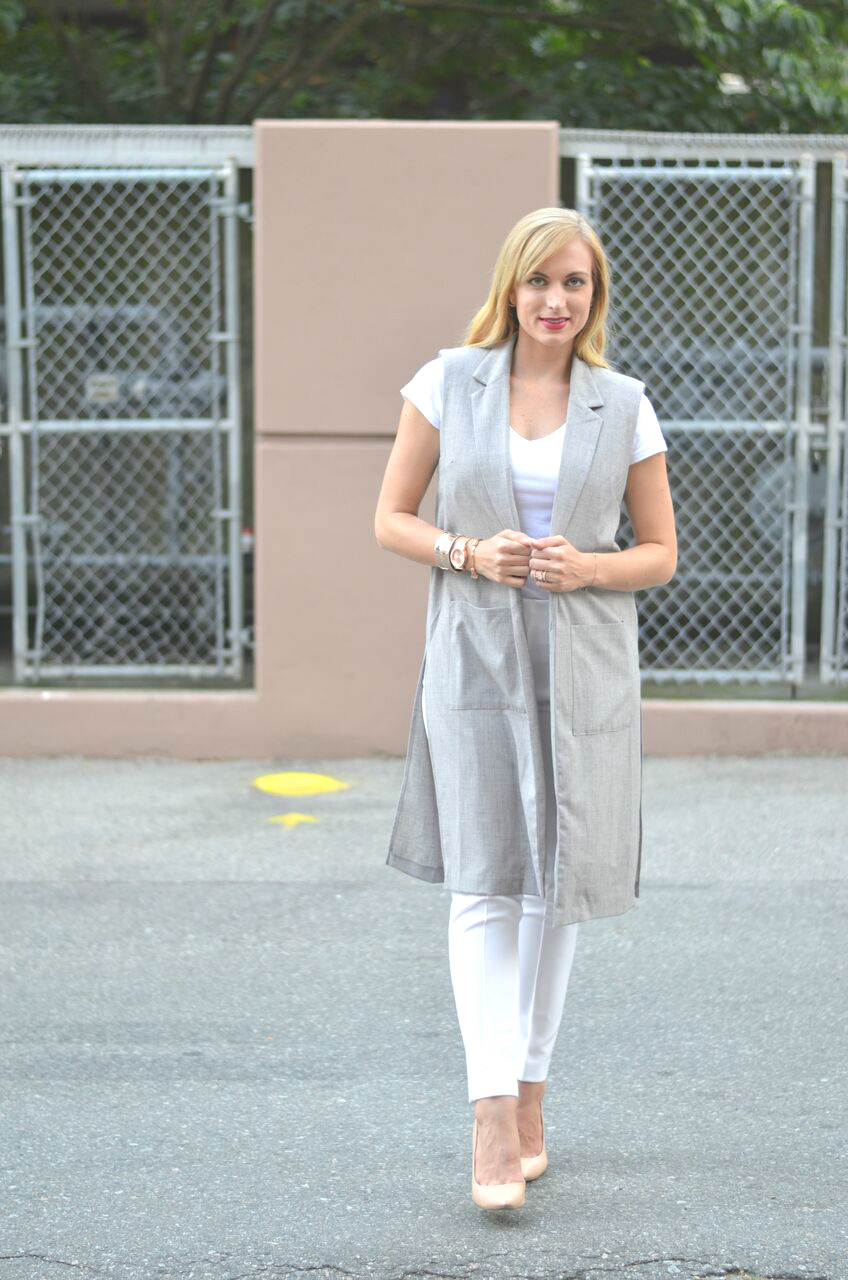 what to wear with a sleeveless blazer