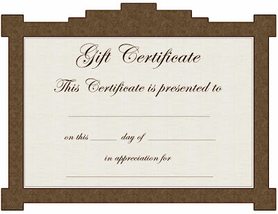 Gift Certificate Donation Template Fgalp
