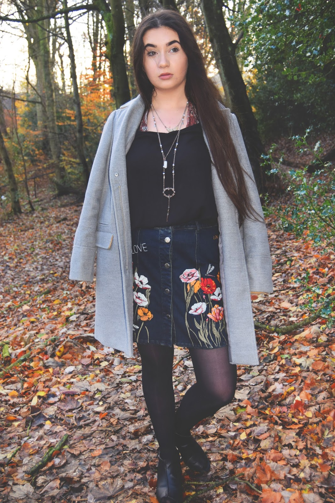 river island floral embroidery