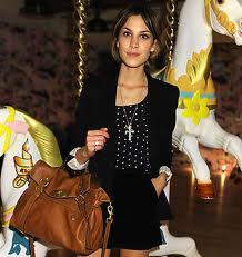 Alexa Chung with her Mulberry Alexa Bag