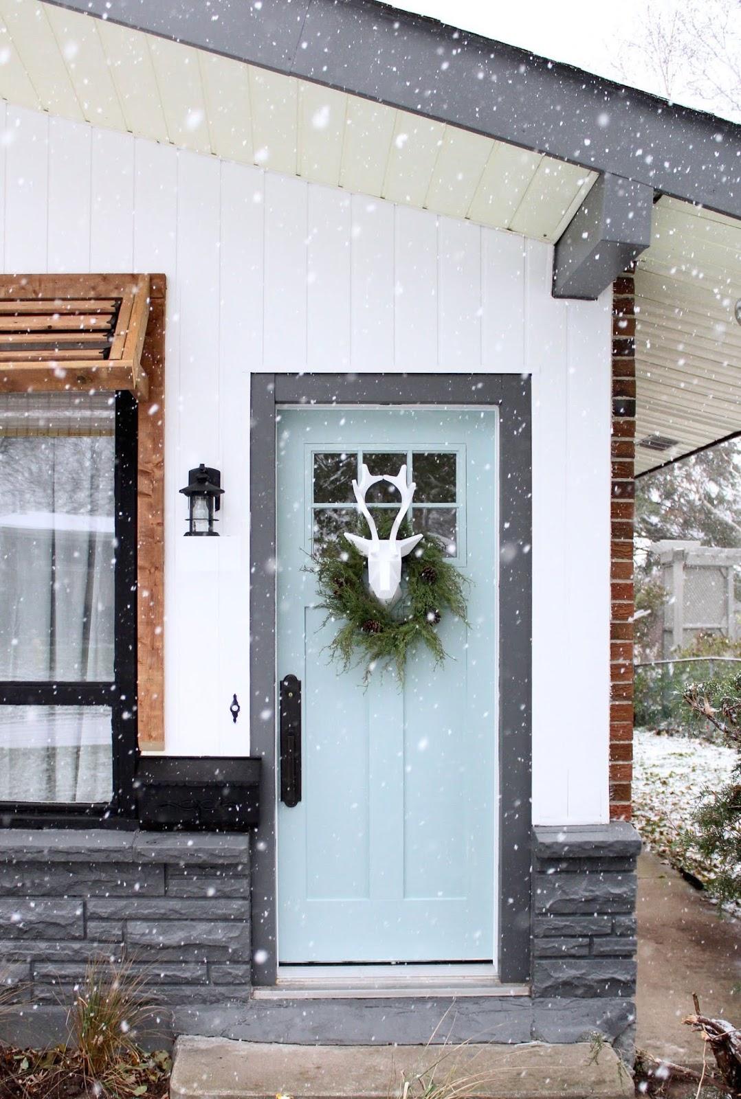 Unique Christmas Front Door Decorations Paint Your Door