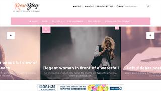 Rose Blog Blogspot Template