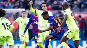 برشلونة يحقق انتصار صعب على نادي خيتافي ويعزز مركزه الثاني في الدوري الاسباني