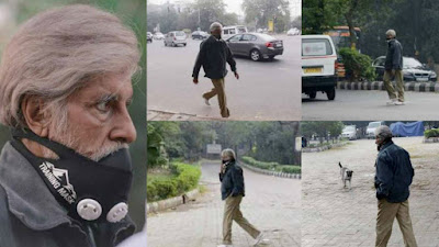 अमिताभ बच्चन दिल्ली की सड़कों पर