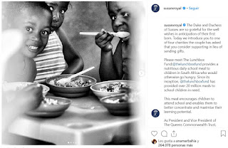 The Duke and Duchess of Sussex are so grateful for the well wishes in anticipation of their first born. Today we introduce you to one of four charities the couple has asked that you consider supporting in lieu of sending gifts.  Please meet The Lunchbox Fund:@thelunchboxfund provides a nutritious daily school meal to children in South Africa who would otherwise go hungry. Since its inception, @thelunchboxfund has provided over 20 million meals to school children in need.  This meal encourages children to attend school and enables them to better concentrate and maximise their learning potential.  As President and Vice President of The Queens Commonwealth Trust, The Duke and Duchess of Sussex are committed to supporting the children and communities of the 53 commonwealth countries around the world.  For those members of the public who have graciously asked to send baby gifts for the couple's upcoming arrival, they ask that instead, you consider lending your support to @thelunchboxfund or the other 3 charities we will be sharing on our page  Thank you for your kindness! Photos courtesy of: @thelunchboxfund