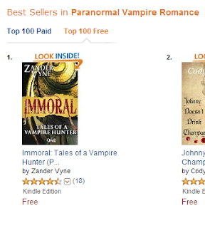 Immoral: Tales of a Vampire Hunter #1 Paranormal Vampire Romance on Amazon