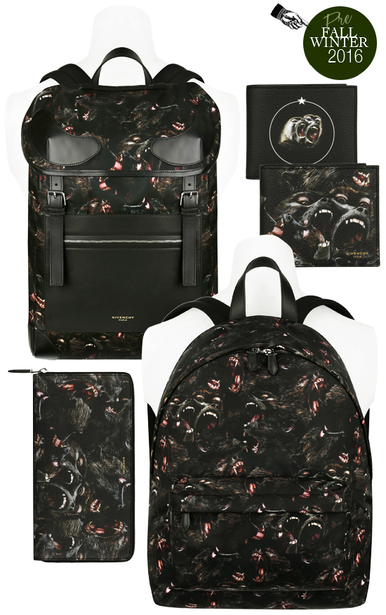 Below  Embossed star print on these classic shaped bags and leather goods  gives them a modern edge... Givenchy Pre-Fall 2016 Mens Collection 73a3b24005c9f