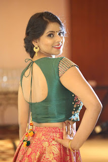 Actress Sai Krupa Stills at Trendz Vivah Collection Launch  0019