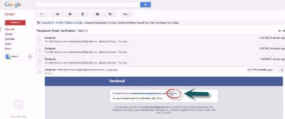 facebook email change setting