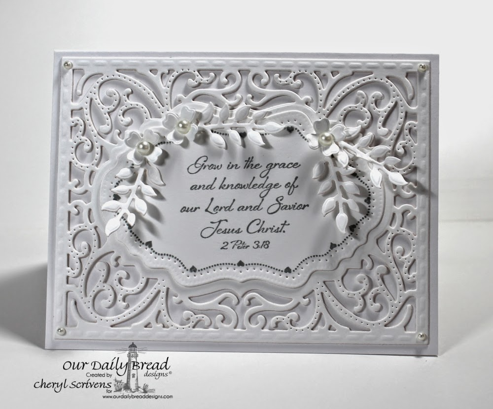 Our Daily Bread Designs, ODBDSLC205, Iris, Flourish Label Borders, Fancy Foliage Dies, Vintage Flourish Pattern Dies, Ornamental Crosses Dies, CherylQuilts, Designed by Cheryl Scrivens