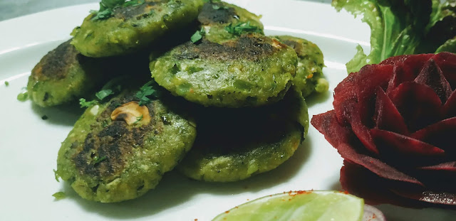 Vegetable Patty  Tikki in garnished plate Food Recipe Dinner ideas