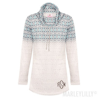 women's personalized fair isle tunic top