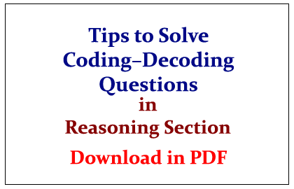 Coding and Decoding for SSC CGL and Bank Exams (PART 1)