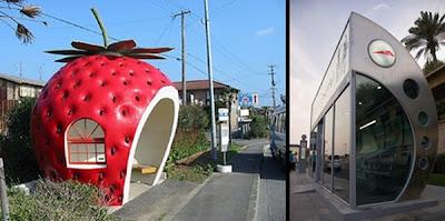 La paradas de autobuses mas creativas del mundo.