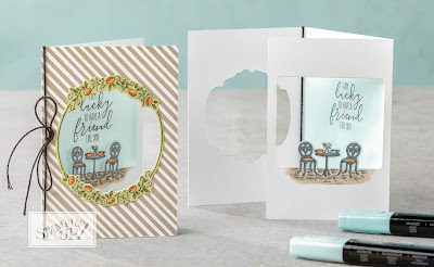 Stampin' Up! Charming Cafe Fun Fold Card ~ 2018 Occasions Catalog