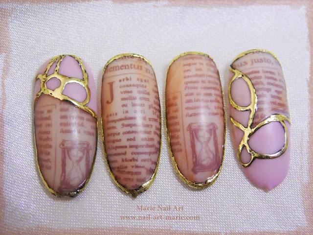 nail art effet journal ancien5
