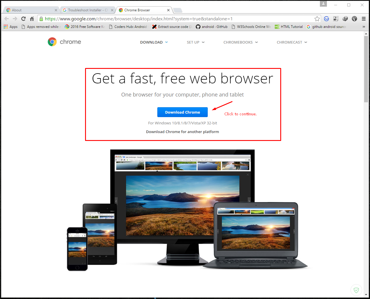 How to Google Chrome ficial fline installer