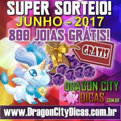 Super Sorteio de 800 Joias Grátis - Junho 2017
