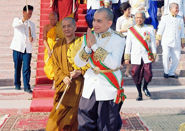 Norodom Sihamoni en  Octobre 2004. Photo AKP - Site Officiel de Sa Majesté