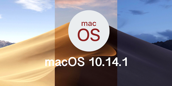 Apple macOS 10.14.1 released