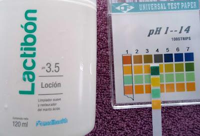 pH de Lactibon Locion