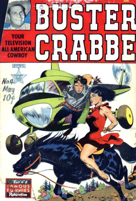 Buster Crabbe v1 #4 golden age comic book cover art by Frank Frazetta