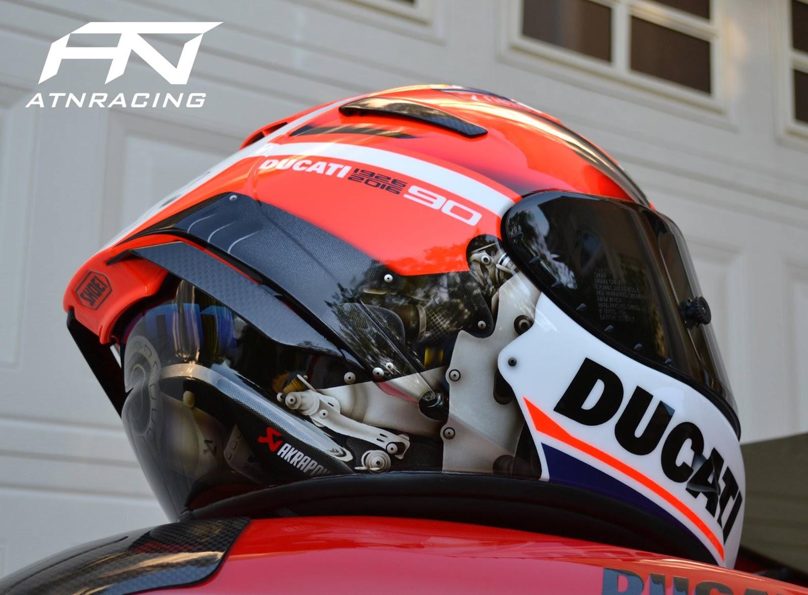 Racing Helmets Garage Shoei X14 XSpirit III Desmo GP
