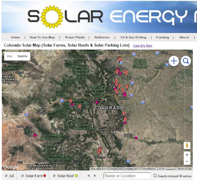 map of solar farms in Colorado