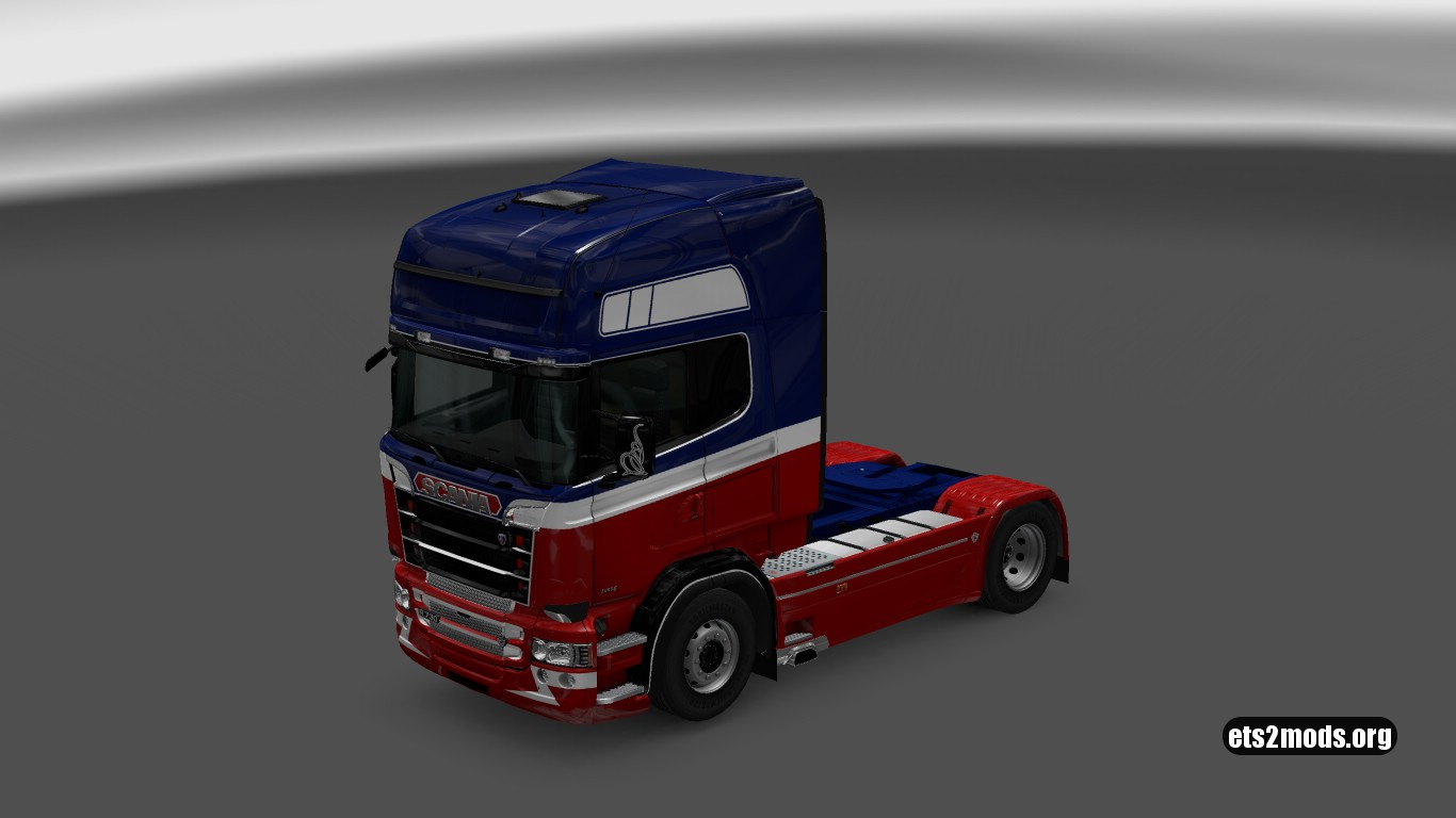 Scania RJL Blue and Red Skin