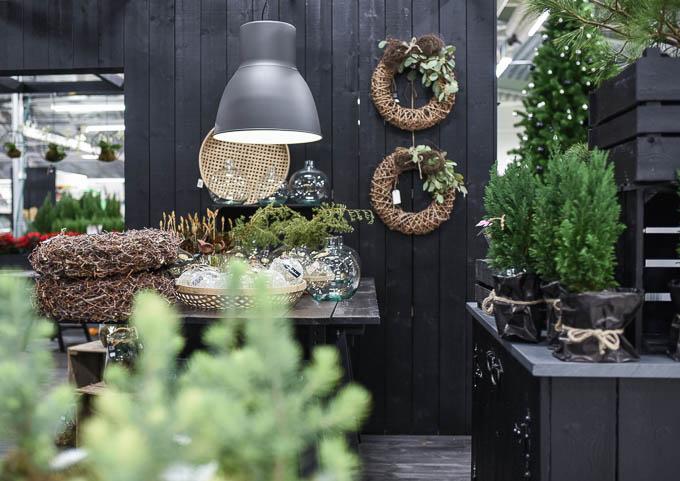 Tunnelmallinen joulu kukkakauppa